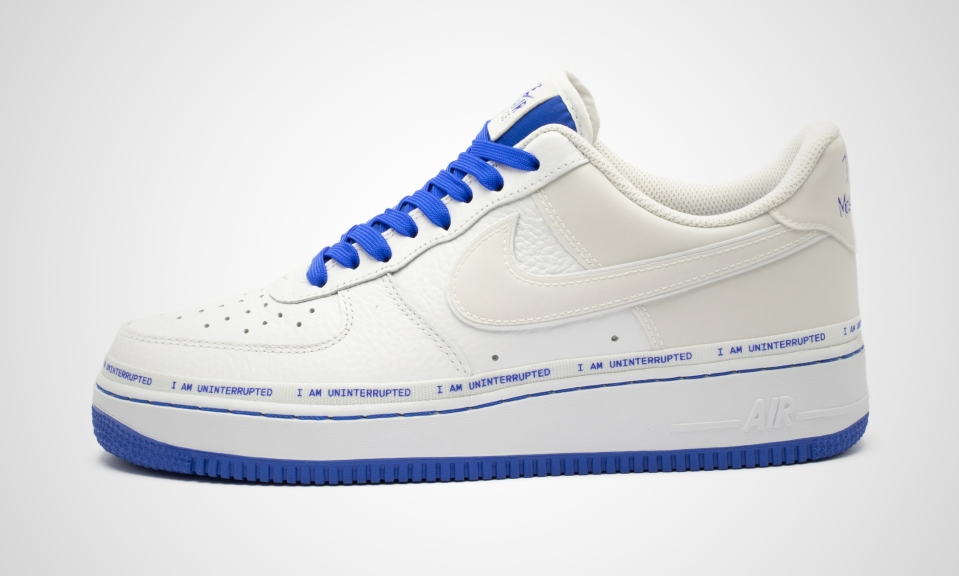 x Uninterrupted Air Force 1 '07 MTAA QS (weiß blau) Sneaker