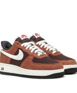 Nike Air Force 1 Premium (Rot / Beige)
