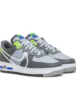 Nike Air Force 1 React (Grau / Blau)
