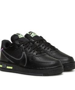 Nike Air Force 1 React (Schwarz / Neon Grün)