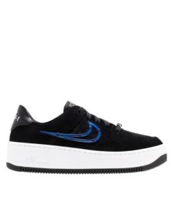 Nike WMNS Air Force 1 Sage Low LX (Schwarz / Weiß / Blau)