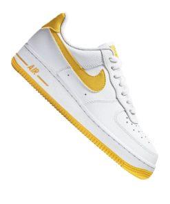 Nike Air Force 1 '07 Sneaker Damen Weiss Gelb F103