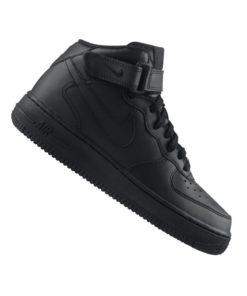 Nike Air Force 1 Mid Sneaker Kids Schwarz F004