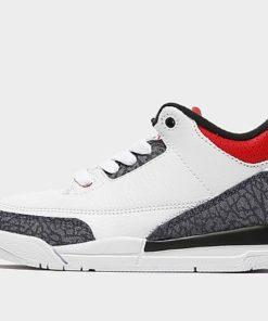 Jordan Air 3 Retro 'Denim' Kleinkinder - White/Black/Fire Red/Red - Kids, White/Black/Fire Red/Red