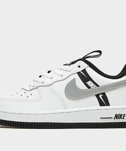 Nike Air Force 1 '07 LV8 Kinder - White/Reflect Silver/Black - Kinder, White/Reflect Silver/Black