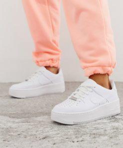 Nike - Air Force 1 Sage - Flache Sneaker in Weiß