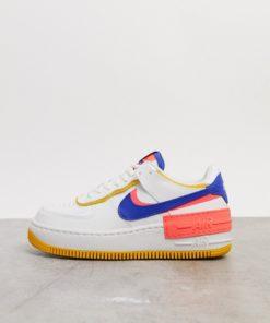 Nike - Air Force 1 Shadow - Sneaker in Weiß, Blau und Rosa