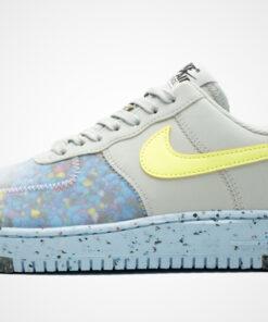 """WMNS Air Force 1 """"Crater"""" (grau / hellblau / gelb) Sneaker"""