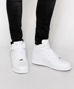 Nike - Air Force 1 Mid '07 - Weiße Sneaker, 315123-111