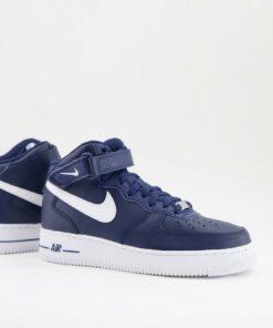 Nike - Air Force 1 Mid - Sneaker in Marineblau und Weiß